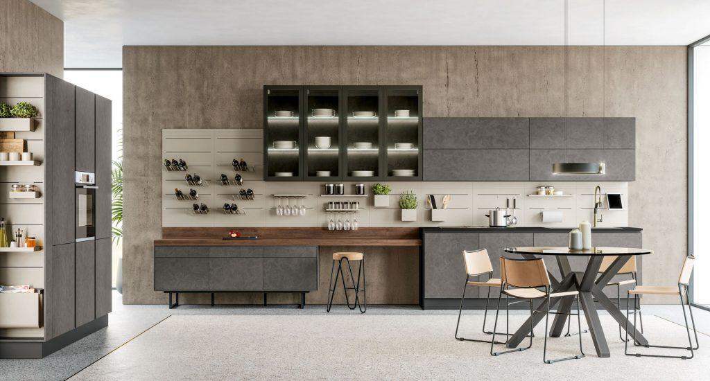 italienische Designerküche Cucine Lube Modell Round